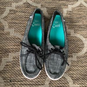 Vans Heather gray surf/boat shoe